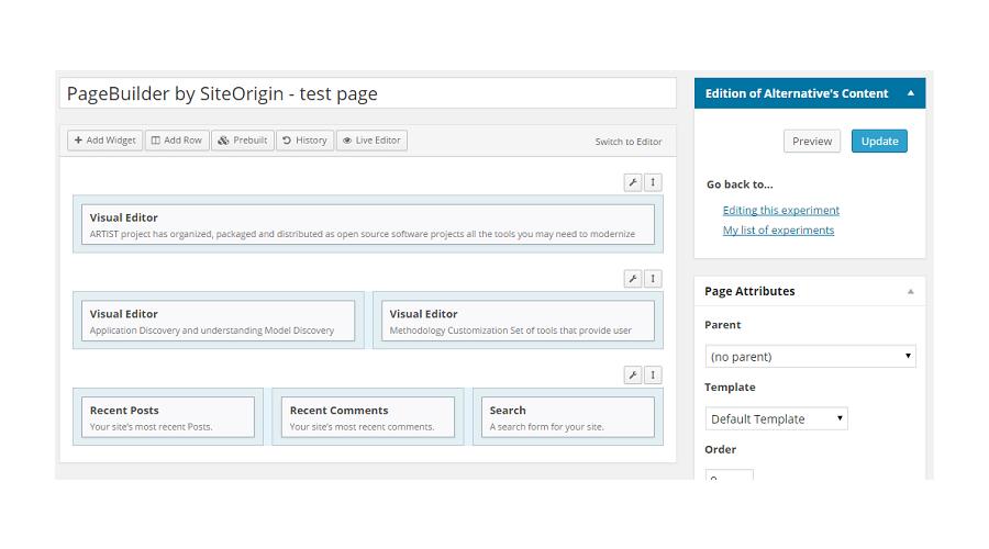 Site origin Page Builder